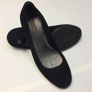 Prada Pumps Kitten Heels Black Suede 36